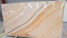 Supply polished slabs 0.8 cm in natural onyx ONYX ARCOBALENO Rapsody. Detail image pictures