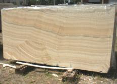 Supply polished slabs 0.8 cm in natural onyx ONYX ARCOBALENO E_H463. Detail image pictures