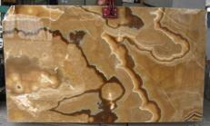 Supply polished slabs 0.8 cm in natural onyx ONYX CAPPUCCINO E-OA14637. Detail image pictures