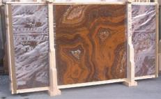 Supply polished slabs 0.8 cm in natural onyx ONYX RED E-14533. Detail image pictures