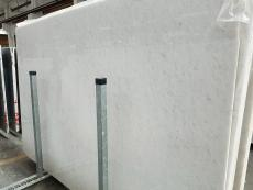 Supply polished slabs 1.2 cm in natural marble OPAL WHITE 7330M. Detail image pictures