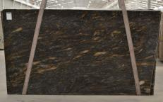 Supply polished slabs 0.8 cm in natural granite ORION BQ02089. Detail image pictures