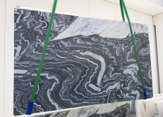 Supply polished slabs 0.8 cm in natural marble Ovulato 1221. Detail image pictures