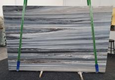 Supply polished slabs 0.8 cm in natural Dolomite PALISSANDRO BLUE BRONZO VENATO 1298. Detail image pictures