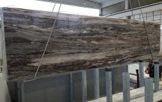 Supply polished slabs 0.8 cm in natural marble PALISSANDRO BRONZO VENATO Z0164. Detail image pictures