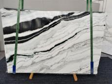 Supply polished slabs 0.8 cm in natural marble PANDA 1335. Detail image pictures