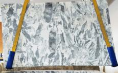 Supply polished slabs 0.8 cm in natural marble PANDA AA T0149. Detail image pictures