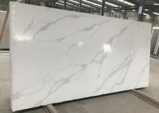 Supply polished slabs 1.2 cm in artificial aglo quartz POMPEI AA2021P. Detail image pictures