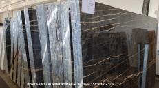 Supply polished slabs 0.8 cm in natural marble PORT SAINT LAURENT T0160. Detail image pictures