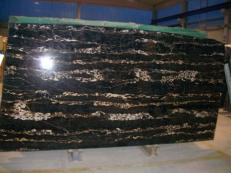 Supply polished slabs 0.8 cm in natural marble PORTORO EXTRA SR-2010017. Detail image pictures