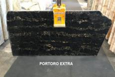 Supply polished slabs 0.8 cm in natural marble PORTORO EXTRA AA D0023. Detail image pictures