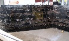 Supply polished slabs 0.8 cm in natural marble PORTORO E-B12034. Detail image pictures