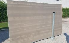 Supply honed slabs 0.8 cm in natural marble RIVER GREY ZL0091. Detail image pictures