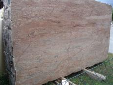 Supply polished slabs 0.8 cm in natural granite ROSEWOOD EDM25112. Detail image pictures