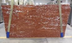 Supply polished slabs 1.2 cm in natural marble ROSSO FRANCIA 1007M. Detail image pictures