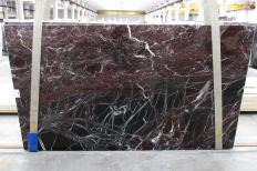 Supply polished slabs 0.8 cm in natural marble ROSSO LEVANTO 1712M. Detail image pictures