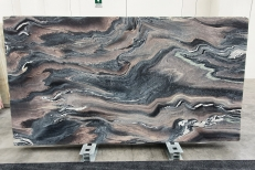 Supply polished slabs 2 cm in natural marble ROSSO LUANA 1208. Detail image pictures