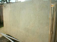 Supply polished slabs 0.8 cm in natural marble SAHARA GOLD EM_375. Detail image pictures