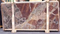 Supply polished slabs 0.8 cm in natural marble SARRANCOLIN E-14105. Detail image pictures