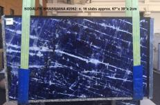 Supply polished slabs 2 cm in natural marble SODALITE AA 2062. Detail image pictures