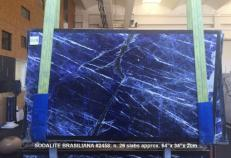 Supply polished slabs 0.8 cm in natural marble SODALITE AA 2458. Detail image pictures