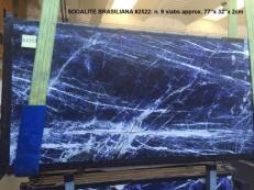 Supply polished slabs 0.8 cm in natural marble SODALITE AA 2522. Detail image pictures
