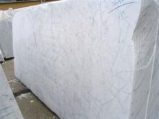 Supply polished slabs 0.8 cm in natural marble STATUARIETTO EDM25102. Detail image pictures
