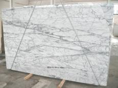 Supply polished slabs 0.8 cm in natural marble STATUARIETTO SR_7796. Detail image pictures