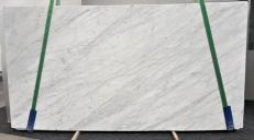 Supply polished slabs 0.8 cm in natural marble STATUARIETTO GL 987. Detail image pictures