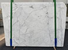Supply polished slabs 0.8 cm in natural marble STATUARIO CLASSICO 1278. Detail image pictures
