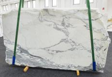 Supply polished slabs 0.8 cm in natural marble STATUARIO CORCHIA 14191. Detail image pictures