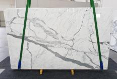 Supply polished slabs 0.8 cm in natural marble STATUARIO EXTRA 1249. Detail image pictures