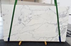 Supply honed slabs 0.8 cm in natural marble STATUARIO EXTRA 1288. Detail image pictures
