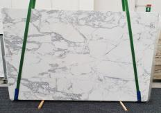 Supply polished slabs 0.8 cm in natural marble STATUARIO EXTRA 1437. Detail image pictures