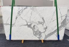 Supply polished slabs 0.8 cm in natural marble STATUARIO VENATO 1258. Detail image pictures
