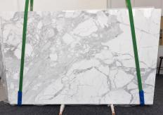 Supply polished slabs 1.2 cm in natural marble STATUARIO VENATO 1187. Detail image pictures