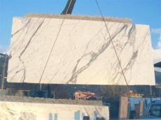 Supply polished slabs 0.8 cm in natural marble STATUARIO VENATO E_1442. Detail image pictures