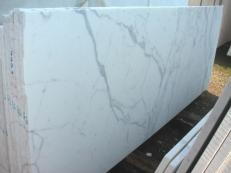 Supply polished slabs 0.8 cm in natural marble STATUARIO VENATO E-1203. Detail image pictures