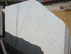 Supply polished slabs 0.8 cm in natural marble STATUARIO VENATO EM_0246. Detail image pictures