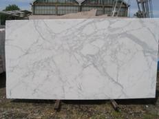 Supply polished slabs 0.8 cm in natural marble STATUARIO VENATO E-8074. Detail image pictures