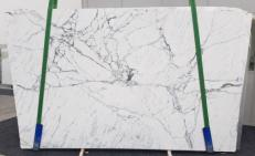 Supply polished slabs 0.8 cm in natural marble STATUARIO VENATO SG 973. Detail image pictures