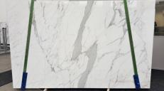 Supply polished slabs 0.8 cm in natural marble STATUARIO VENATO GL 959. Detail image pictures