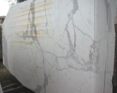 Supply polished slabs 0.8 cm in natural marble STATUARIO E-O411. Detail image pictures