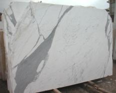Supply polished slabs 0.8 cm in natural marble STATUARIO E-O482. Detail image pictures