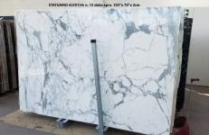 Supply polished slabs 0.8 cm in natural marble STATUARIO LV0134. Detail image pictures