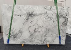 Supply polished slabs 0.8 cm in natural Dolomite SUPER WHITE 1333. Detail image pictures