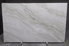 Supply polished slabs 0.8 cm in natural quartzite SUPREME PEARL 1492G. Detail image pictures