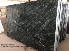Supply polished slabs 0.8 cm in natural marble TAIWAN GREEN TW 2504. Detail image pictures