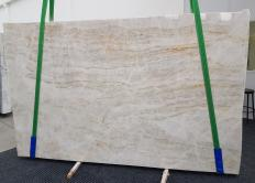 Supply honed slabs 0.8 cm in natural quartzite TAJ MAHAL 1164. Detail image pictures