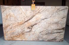 Supply polished slabs 0.8 cm in natural quartzite TEMPEST CRISTALLO A0111. Detail image pictures